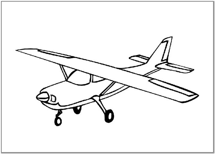 Printable airplane coloring page for toddlers for Airplane coloring page printable