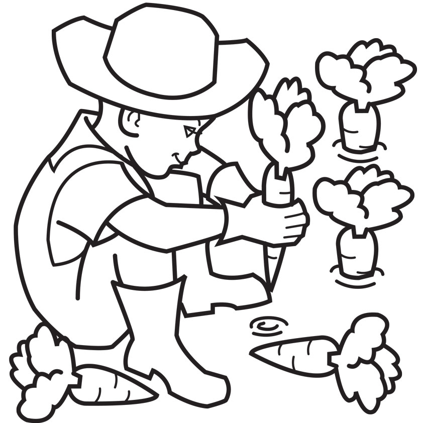 fun farmer coloring pages learning coloring pages - Farm Coloring Pages