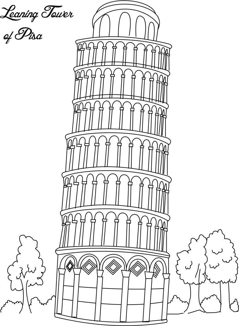 u s landmarks coloring pages - photo #9
