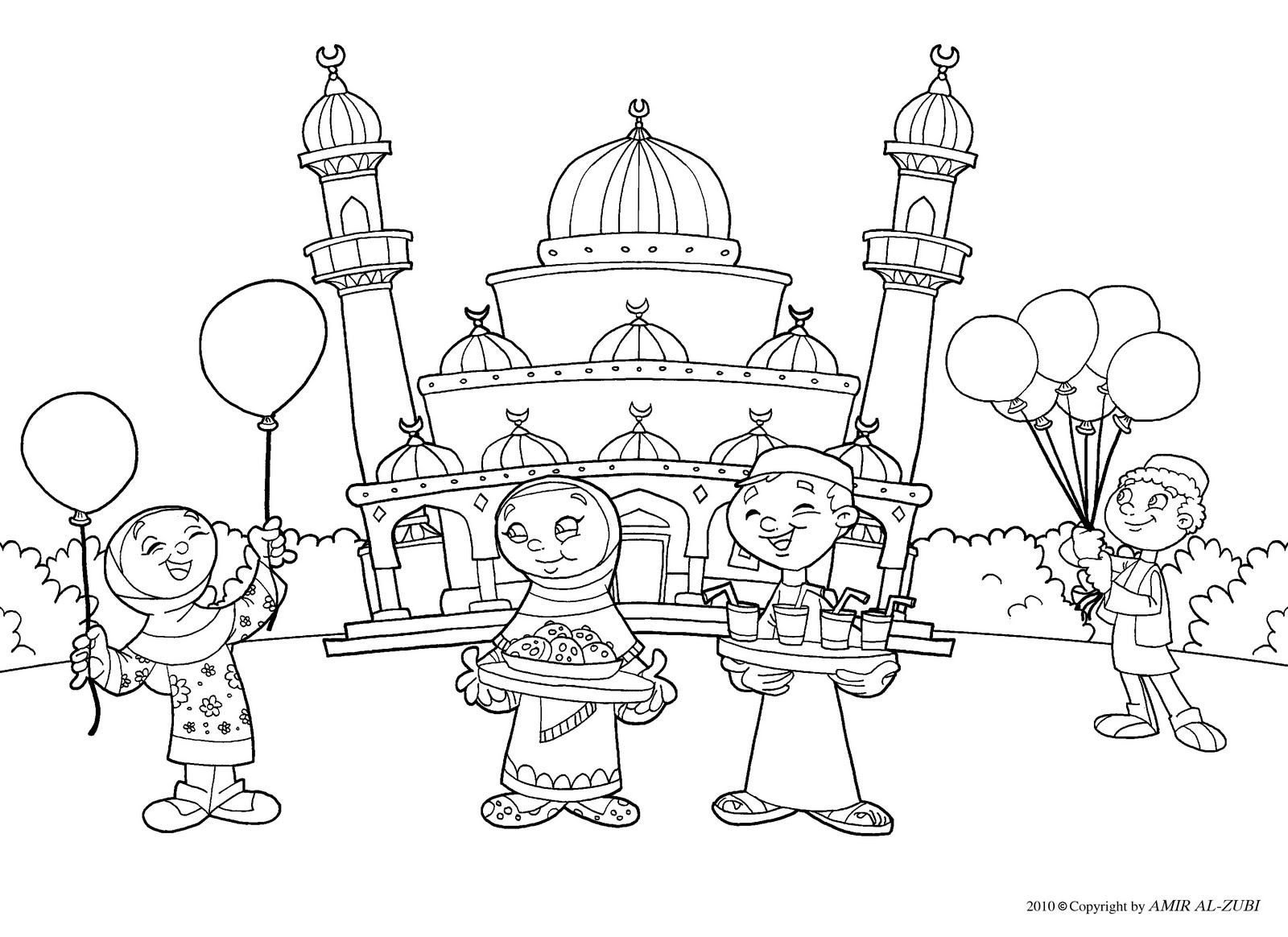 Islamic Coloring Pages Coloring Pages