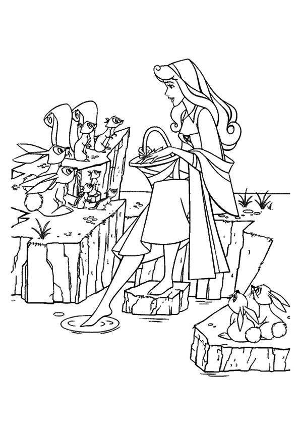 The-Aurora-chats-To-Rabbits-And-Squirrels-coloring-pages