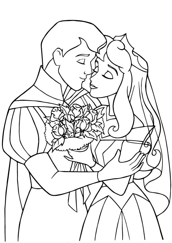 The-prince-princess-wedding-coloring-pages