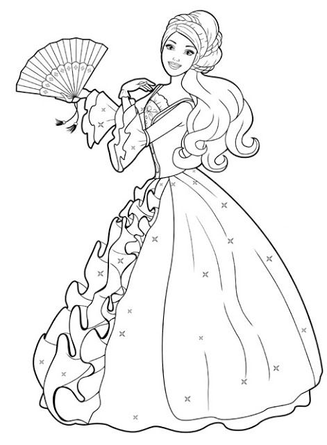 barbie-with-good-dress-coloring-pages