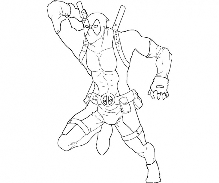 Free Printable Deadpool Coloring Pages