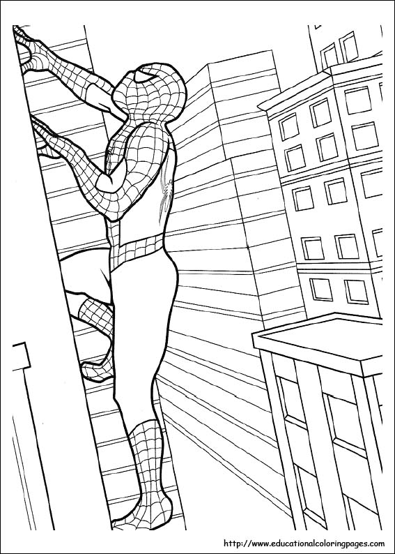 spiderman_climb_a_building_coloring_pages