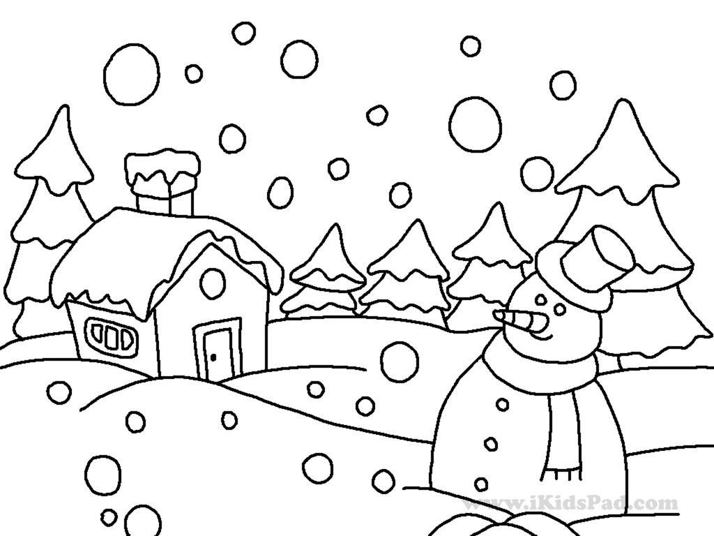 winter coloring pages for kids printable - winter coloring pages for kindergarten