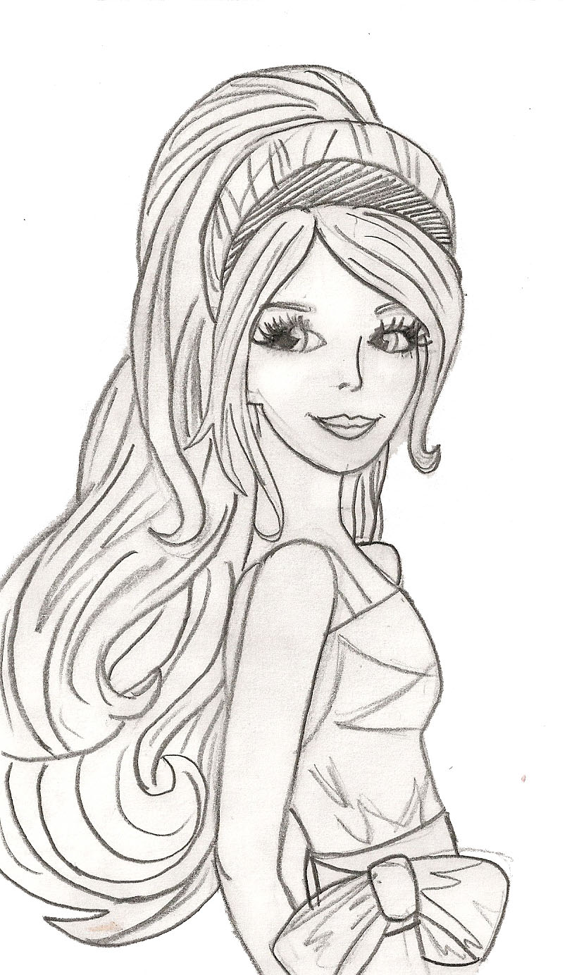 beautiful girl coloring pages - photo#16