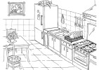Top 4 Clean and Beautiful Kitchen Coloring Pages