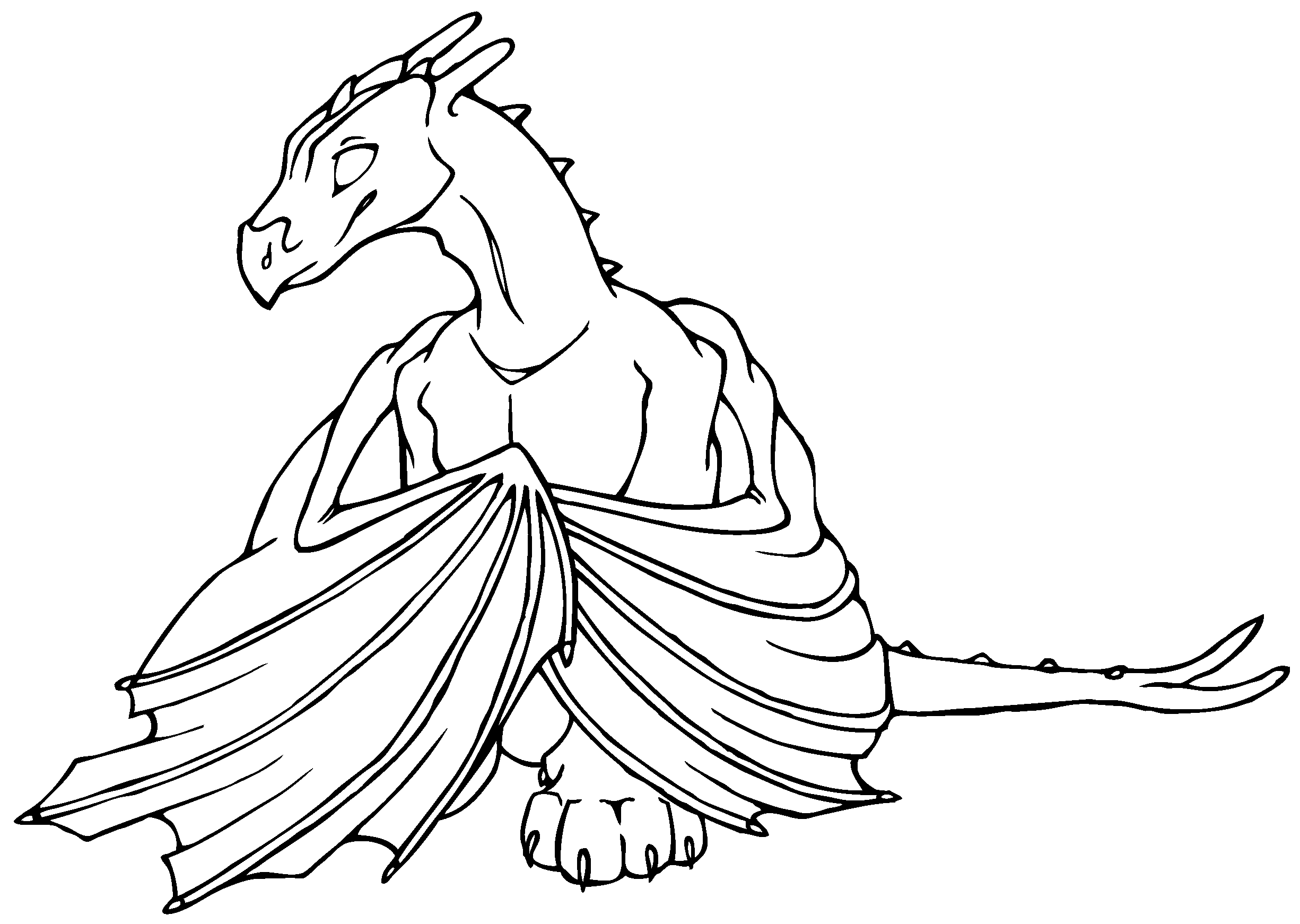 dragon coloring pages coloring pages - Printable Dragon Coloring Pages