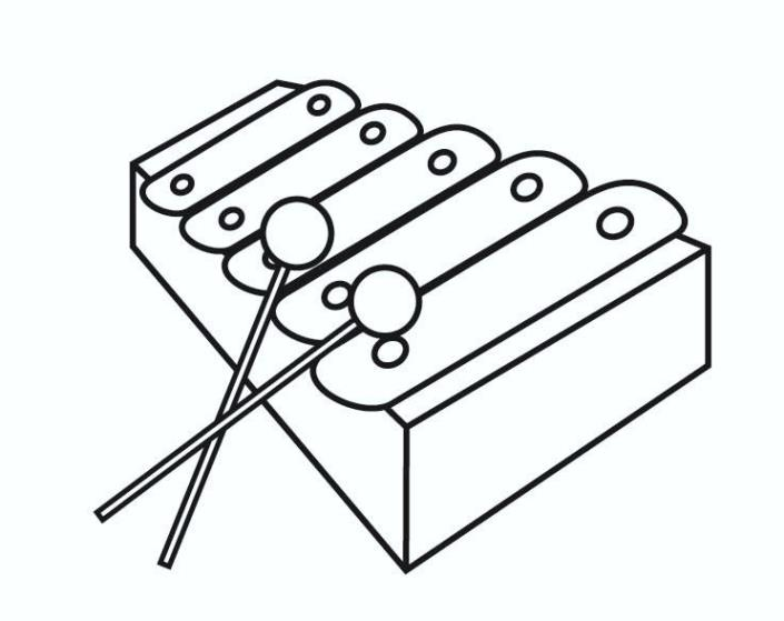 percussion instruments coloring pages - photo#35