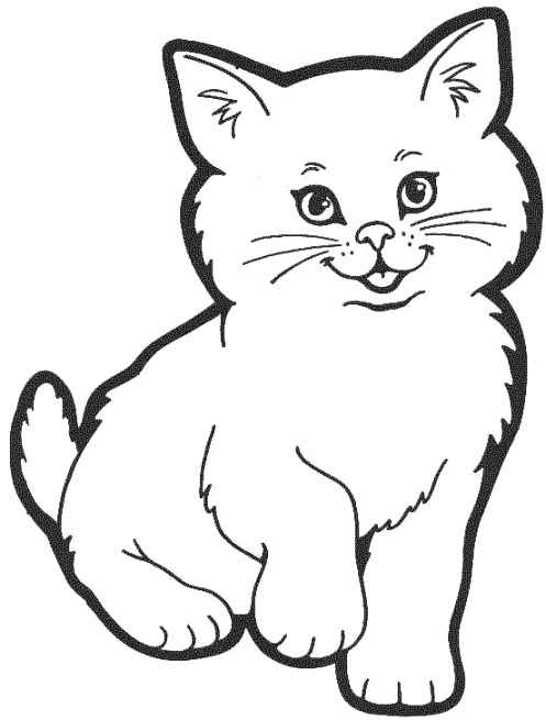 Cat Coloring Pages 01 Coloring Page Cat