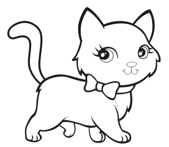 Cat coloring pages 02 for Cat coloring pages for toddlers