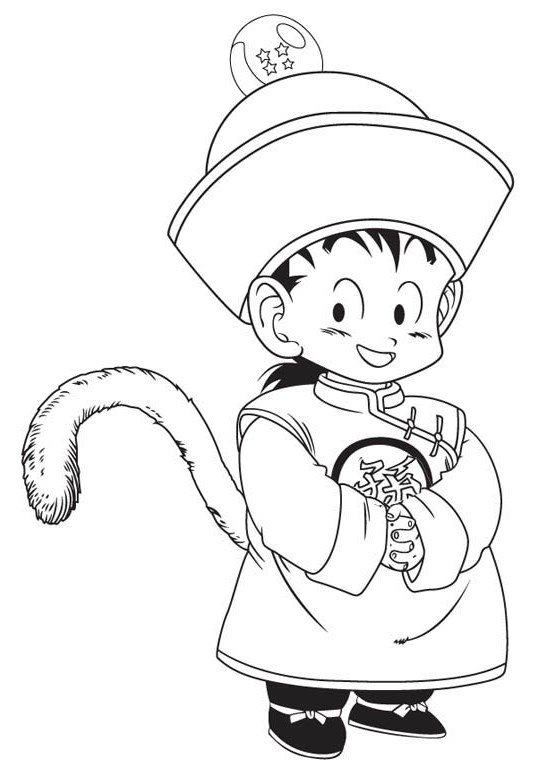 Cute Dragon Ball Z Coloring Page