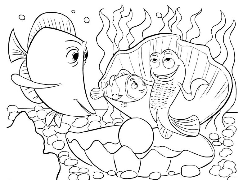 finding nemo coloring cute fish coloring pages