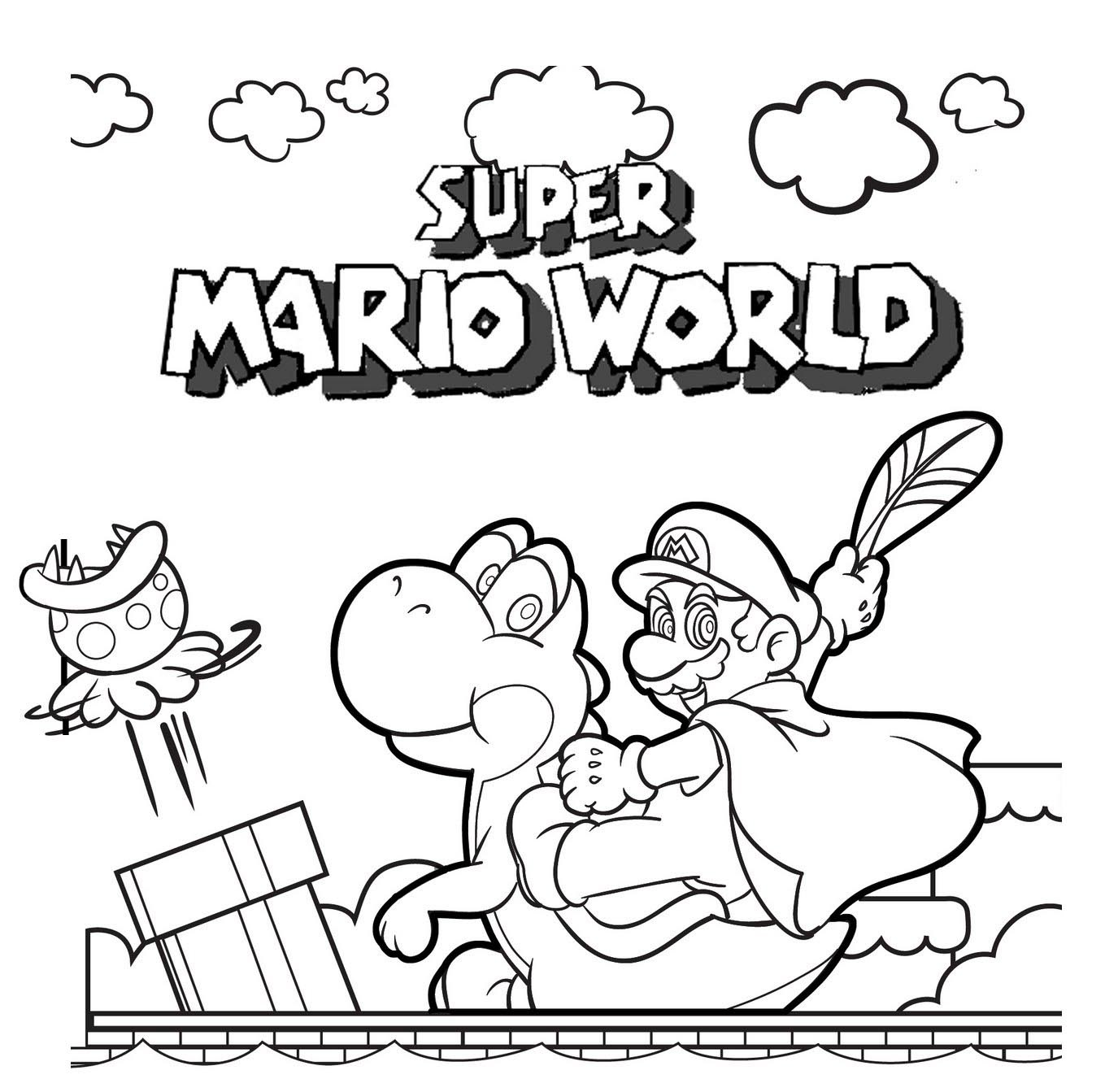 Super-Mario-Adventure-Coloring-Pages