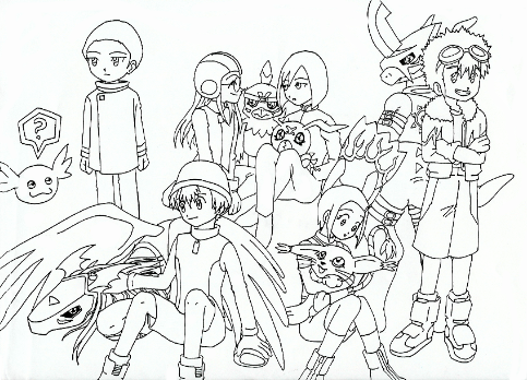 digimon_adventure_02_coloring_pages_family