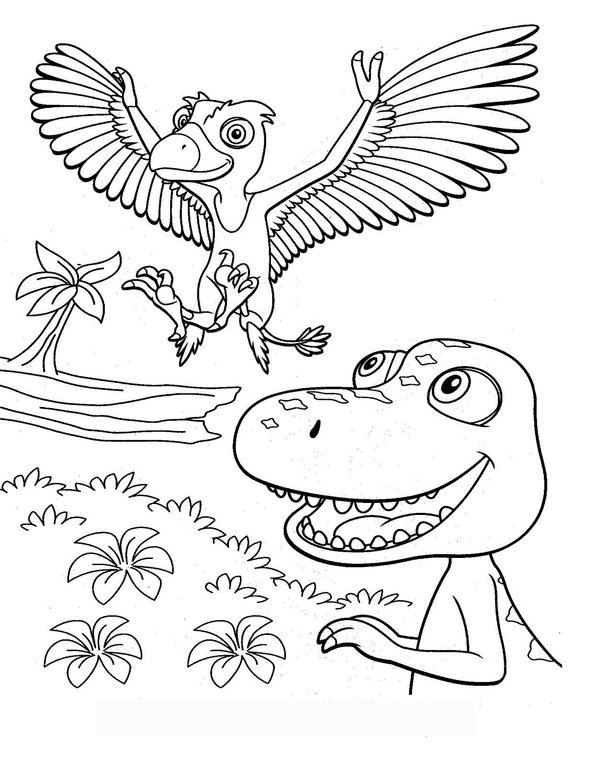 dino-train-coloring-pages