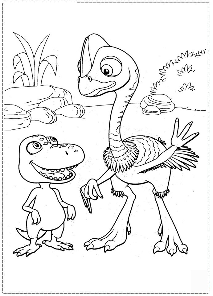 Dinosaur Train Coloring Pages For Kids
