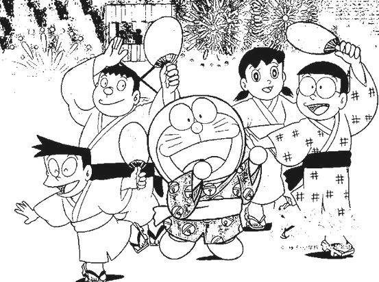 doraemon and friends coloring book activities - Doraemon Colouring Book