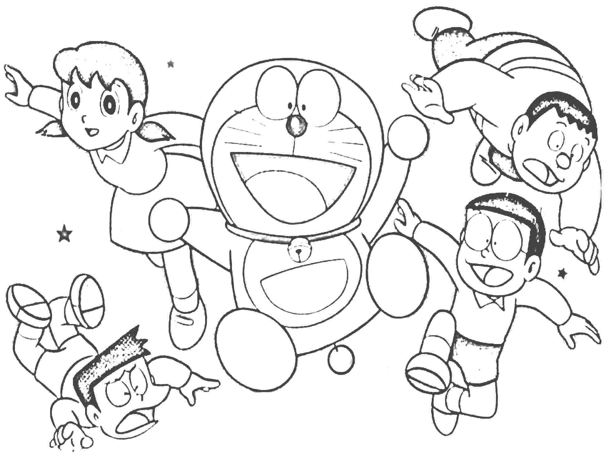 cheerful doraemon coloring book makes your toddlers love to color coloring pages