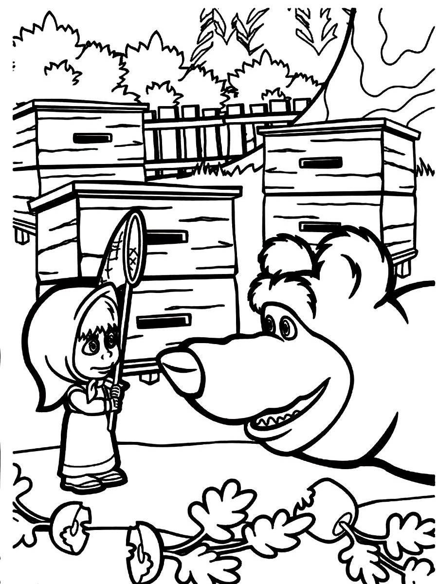 masha and the coloring pages 02