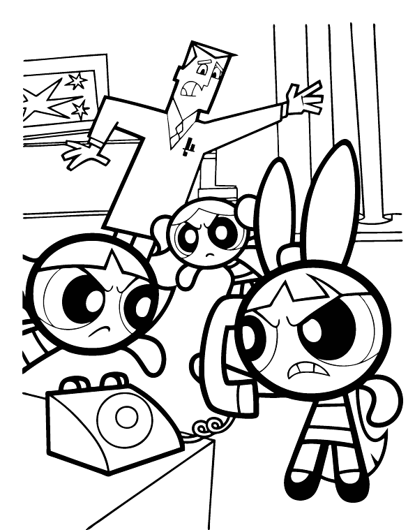 powerpuff girls printable coloring pages coloring pages - Coloring Pages Powerpuff Girls