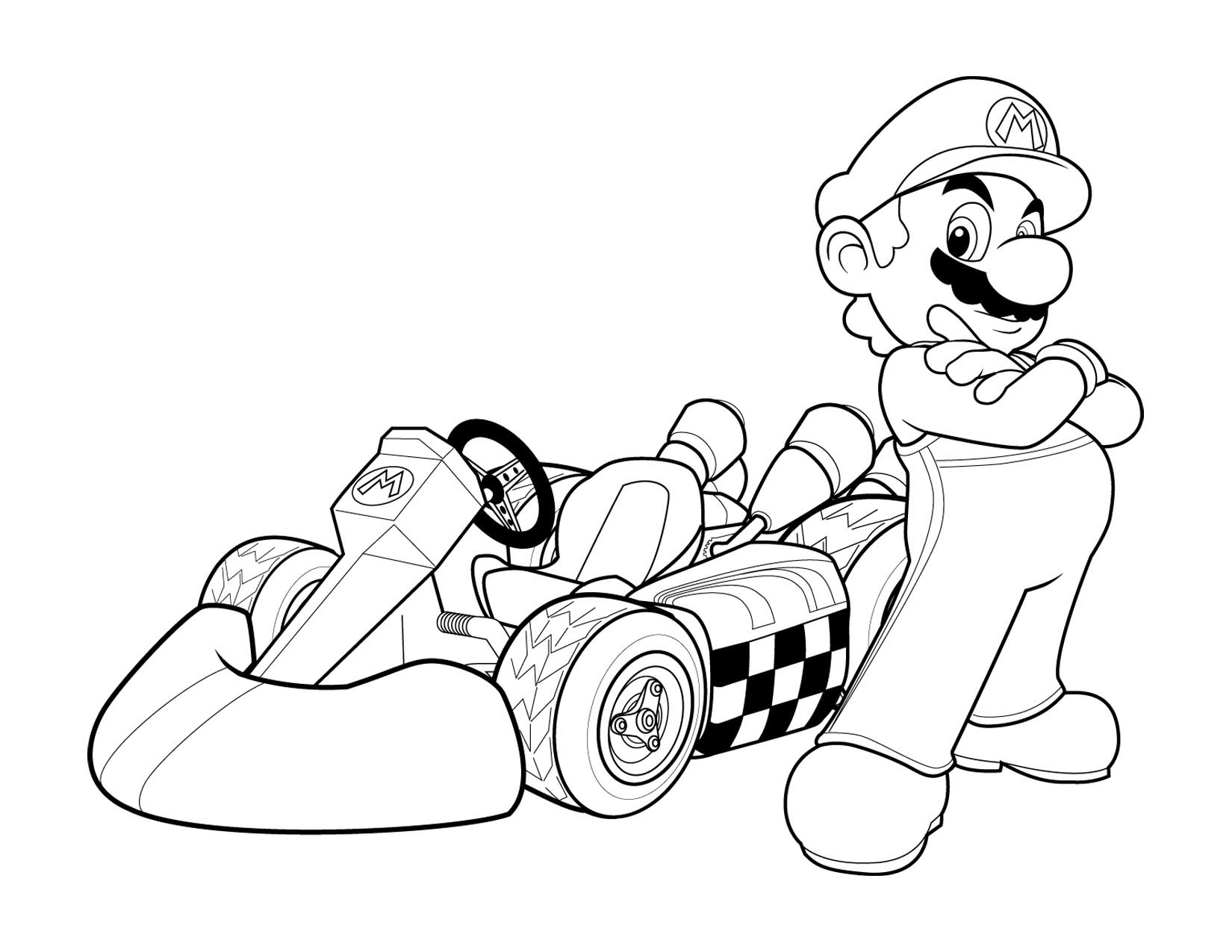 Super Mario and his car