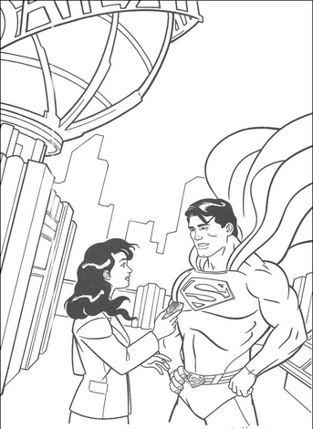 superman-and-his-girl-coloring-pages