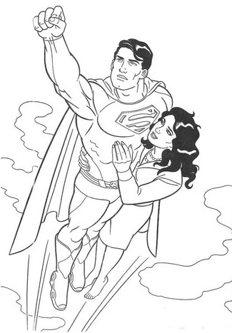 superman-flight-by-saving-coloring-pages