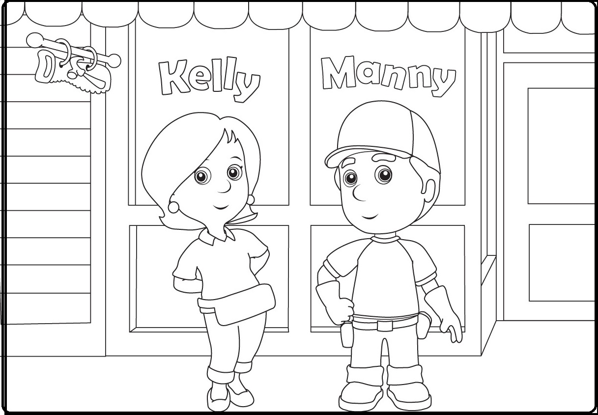 Handy Manny Coloring Pages Handy Manny Coloring Pages  Coloring Pages