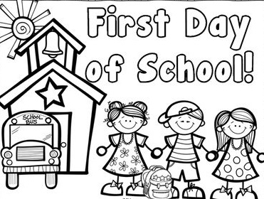 back to school coloring sheets - School Coloring Sheets