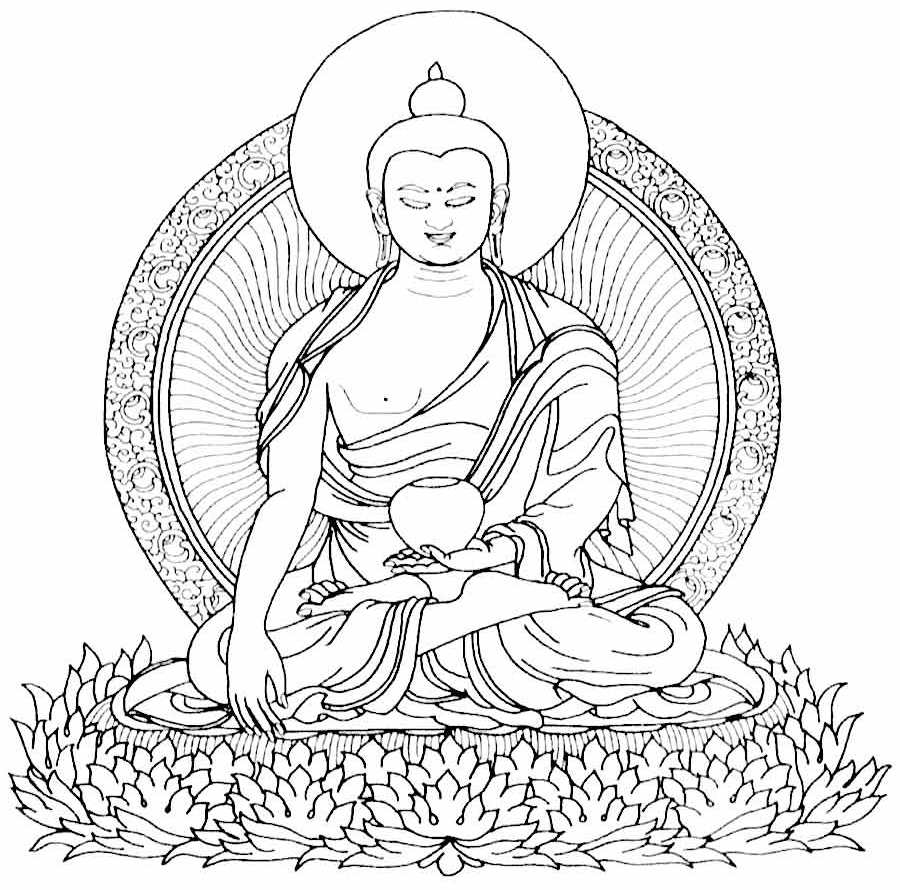 buddhism coloring pages coloring pages