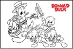 Cute Huey, Dewey and Louie Coloring Pages