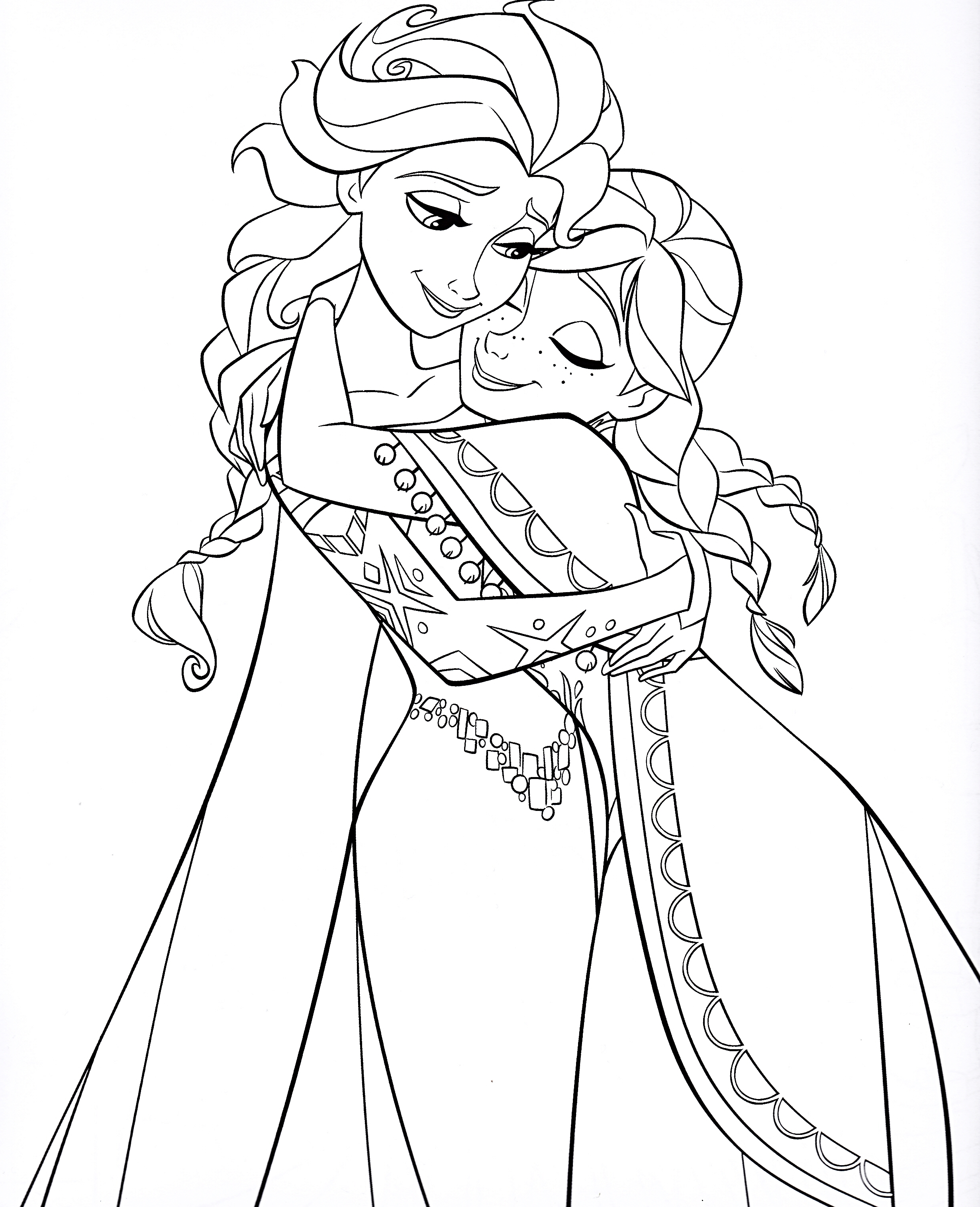 elsa-and-anna-frozen-coloring-pages