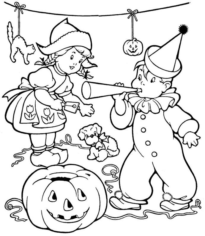 halloween-party-coloring-pages
