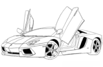 Lamborghini Coloring Pages for Boys