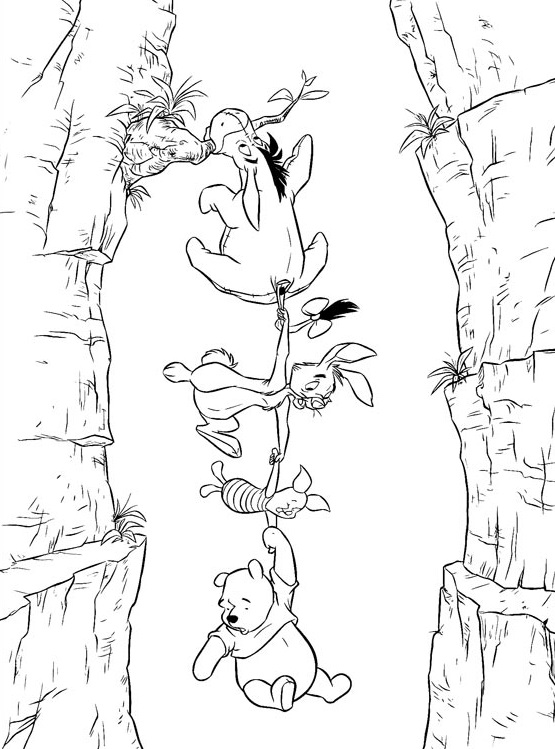 Fun and cute winnie the pooh and friends coloring pages for Winnie the pooh and friends coloring pages