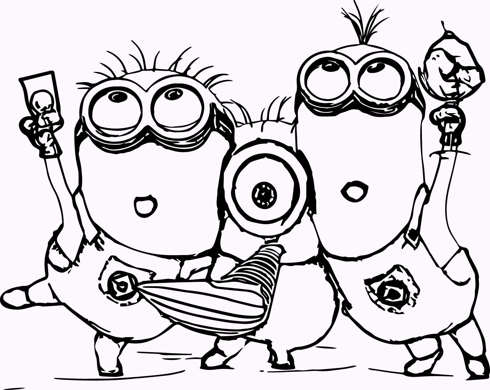11 Cute Minions Coloring Pages