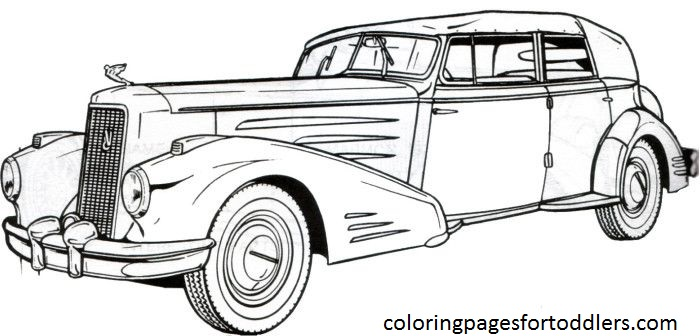 Classic Cars Coloring Pages  Best Coloring Pages 2017