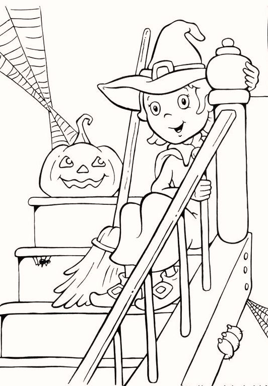 cute-and-beautiful-pumpkin-halloween-coloring-pages