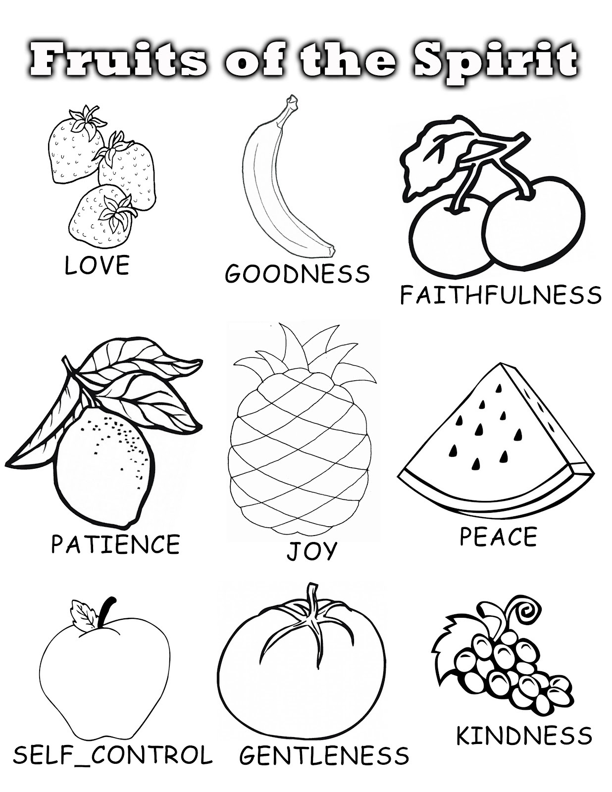 coloring pages of fruit - fruits coloring pages 09