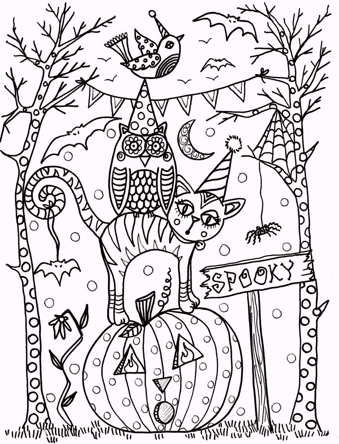 vintage-artistic-halloween-coloring-pages