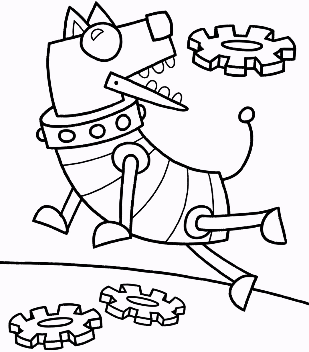 robot coloring pages for kids coloring pages