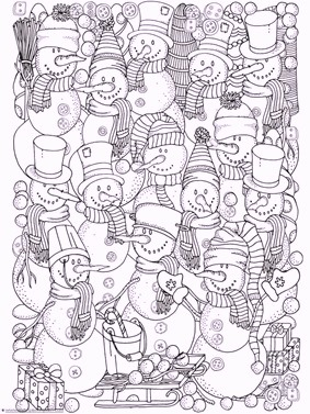 a-group-of-snowman-coloring-pages