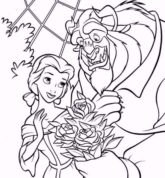 15 Printable Beauty And The Beast Coloring Pages