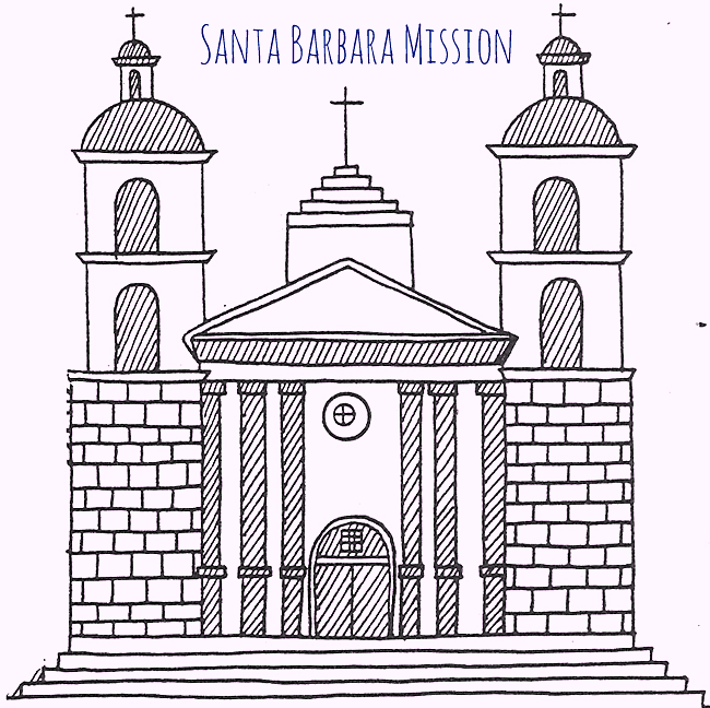 california-mission-santa-barbara-coloring-pages