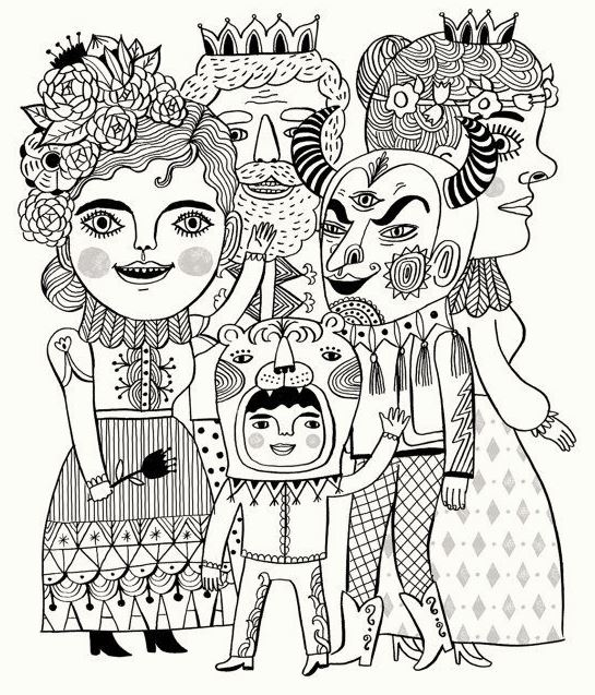 carnival-costumes-coloring-pages