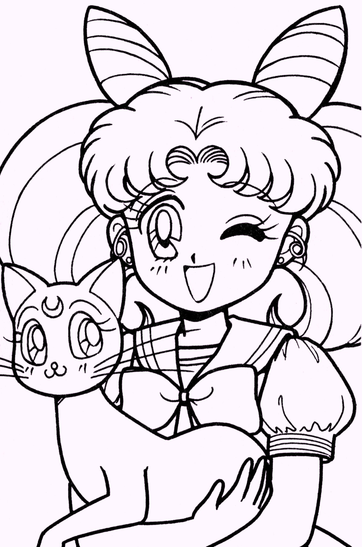 Chibi sailor moon coloring for Coloring pages sailor moon