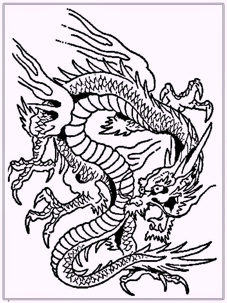chinese dragon coloring pages to print coloring pages - Dragon Coloring Books