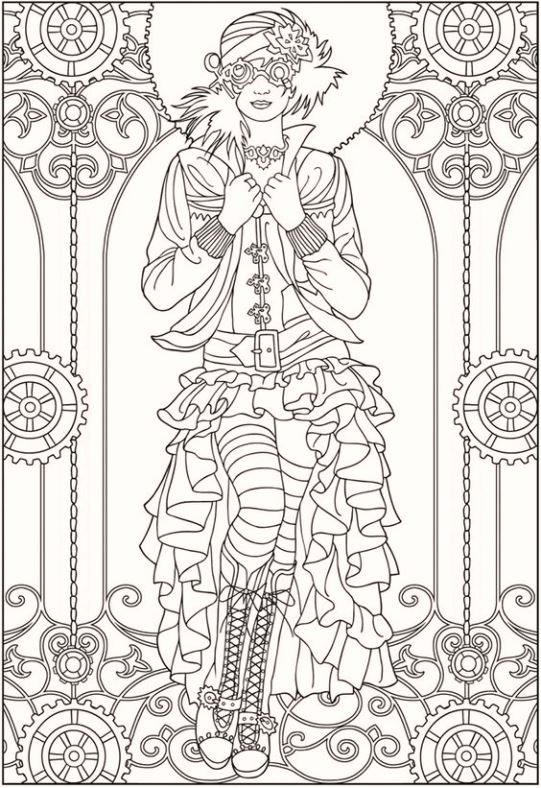 creative-fashion-carnival-coloring-pages
